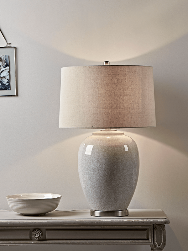 Sand Crackle Glazed Table Lamp Table Lamp Large Table Lamps
