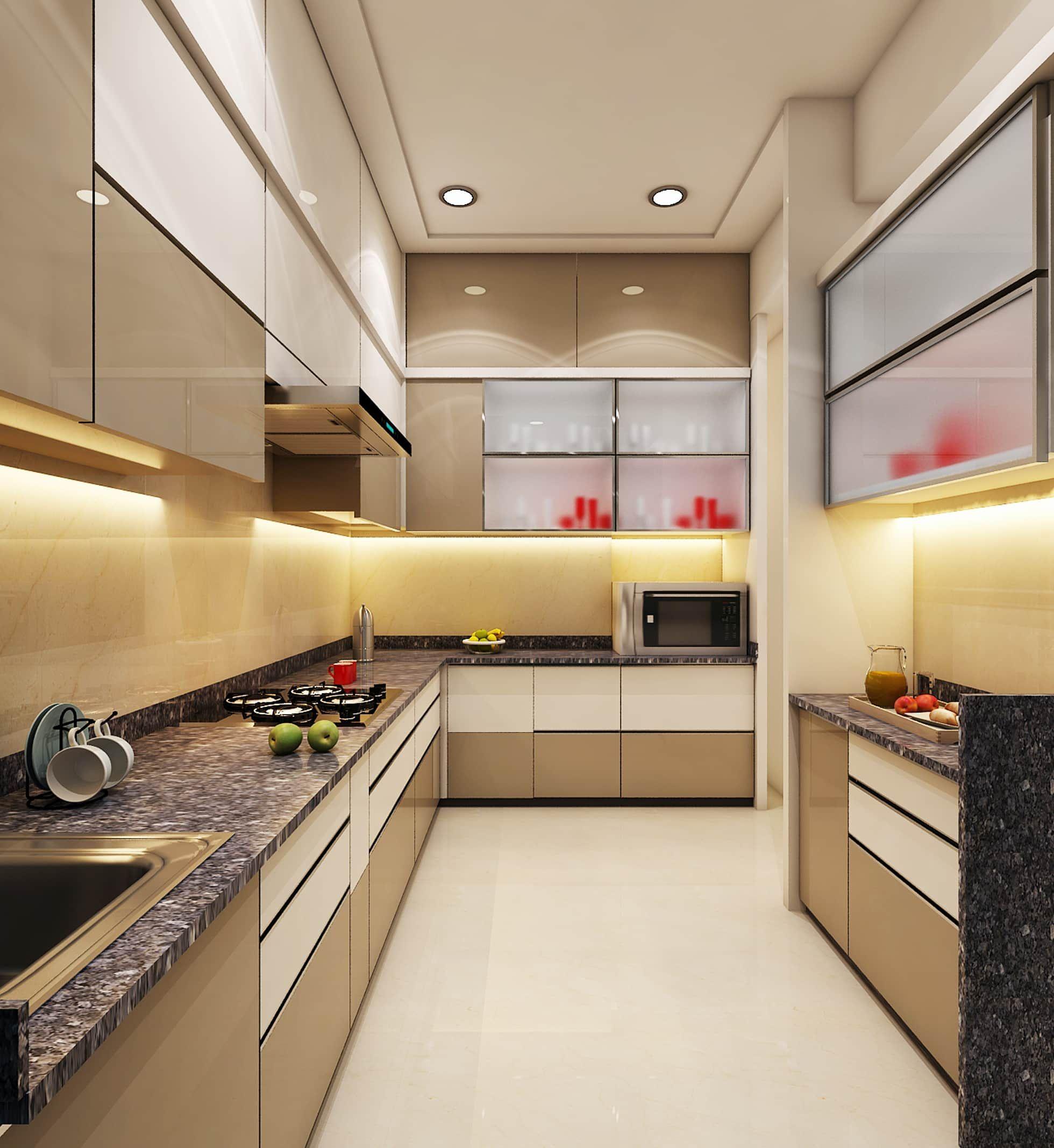 Kitchen by n design studio,interior designer mumbai modern ...
