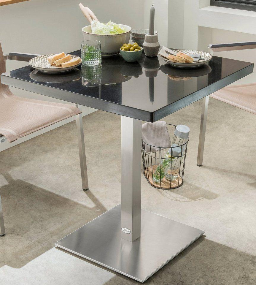 Destiny Gartentisch Cube Ii Granit Edelstahl 70x70 Cm Online