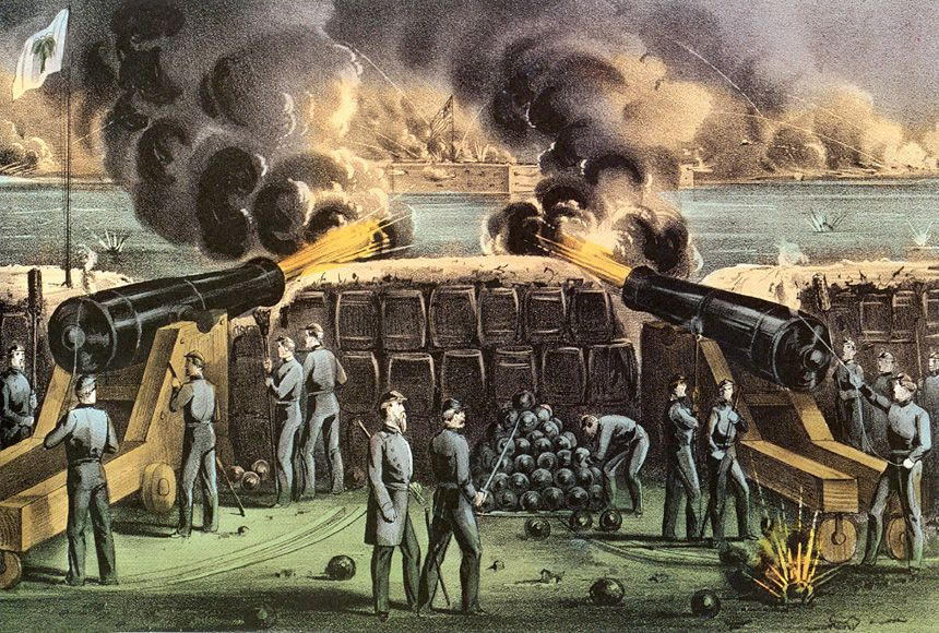 Fort Sumter was an island in Charleston harbor. The fort was a ...