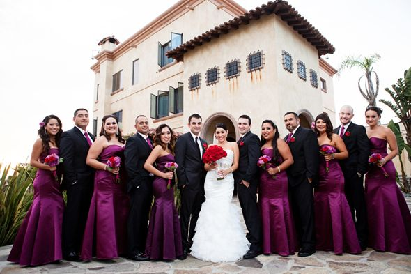 Destination Wedding In Rosarito Mexico Red Purple Wedding Red