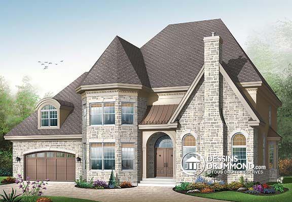 Plan de Maison unifamiliale W3818, champêtre, country, house style - idee de plan de maison