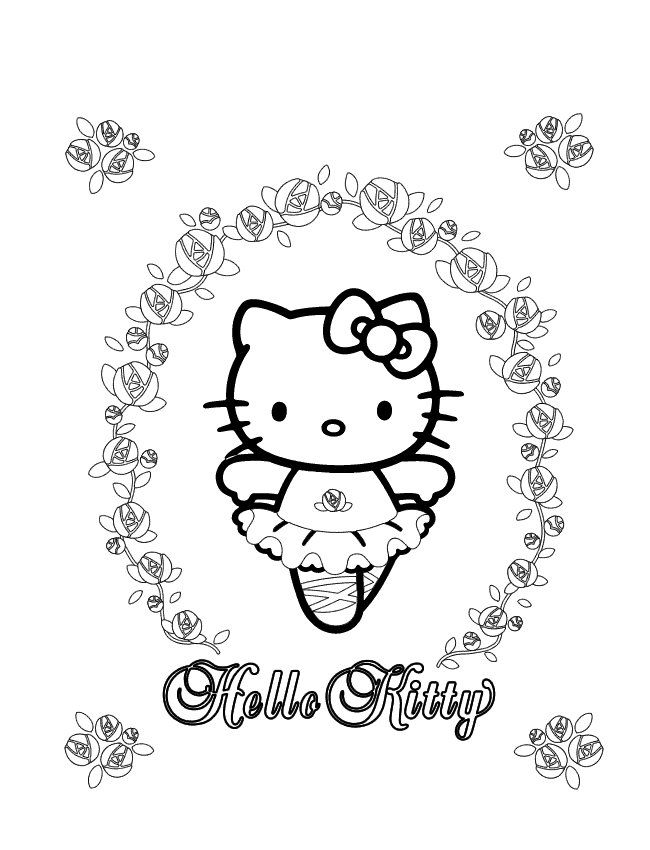Coloring Pages Of Hello Kitty Hello Kitty On Kids N Fun Co Uk