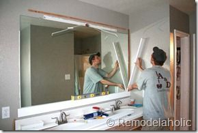 Pics On Framing a large bathroom mirror