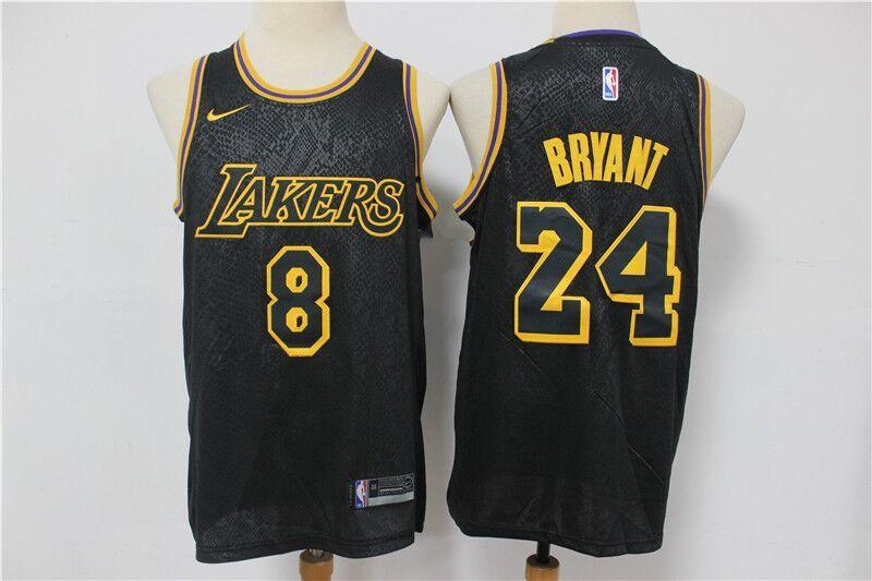 Nba Lakers 8 24 Black Mamba City Edition Men Jersey In 2020 Black Mamba Jersey Los Angeles Lakers