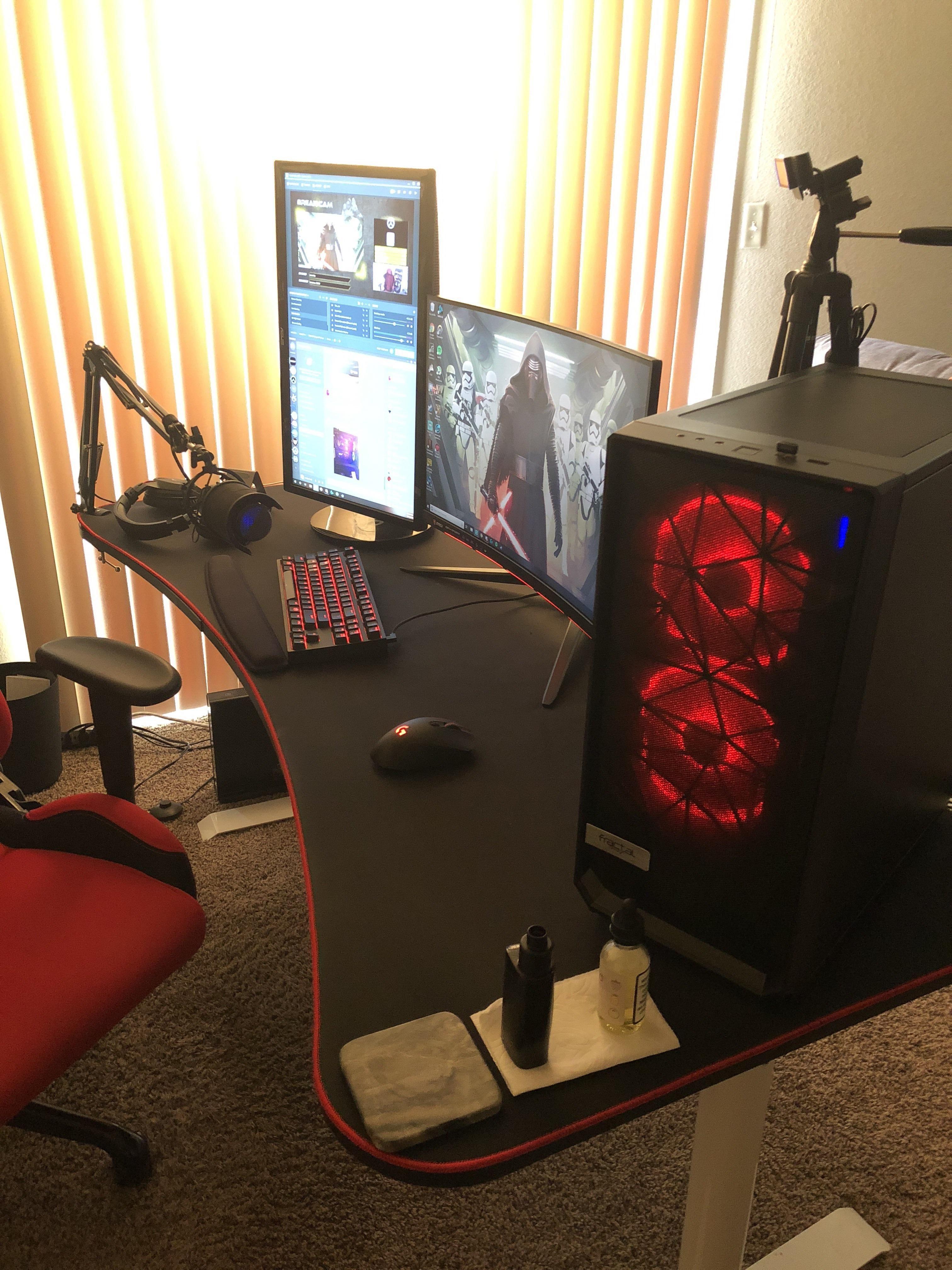Thoughts? Gaming room setup, Pc setup, Room setup