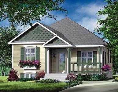 Plan 80363pm Simple Two Bedroom Cottage Cottage Style House Plans Country Style House Plans Bungalow House Plans