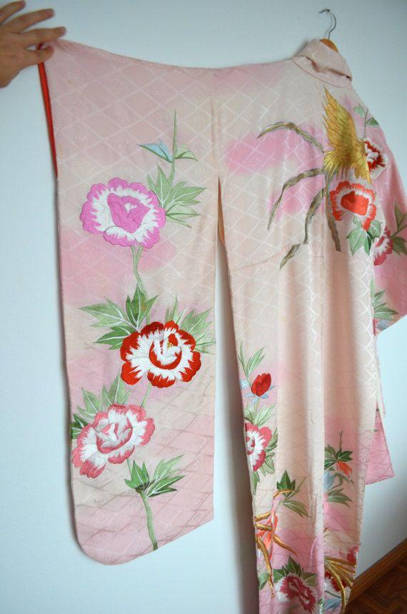 Incredible vintage silk wedding kimono robe by LamingtonAvenue