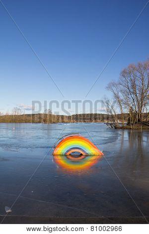 #Frozen #Rainbow At #Lake #Kings #Village @Bigstock #bigstock #winter #nature #season #austria #burgenland #königsdorf #outdoor #stock #photo #download #portfolio #hires #royaltyfree