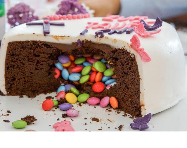 Tauftorte Mit Uberraschung Rezept Torten Kuchen Pinterest