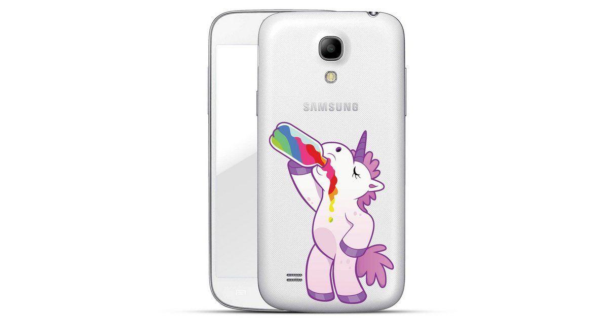 Finoo Smartphone-Hülle »Einhorn Alkohol für Samsung Galaxy S4« Samsung
