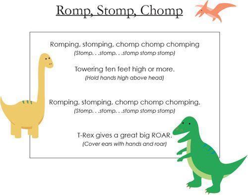Romp Stomp Chomp The Dinosaur Song Collection Victoria Boler Preschool Songs Dinosaur Songs Dinosaur Theme Preschool Dinosaur song for preschool kids