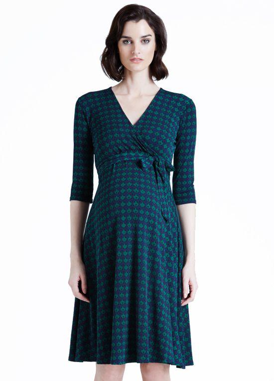 6549a2735c35 Leota - Perfect Wrap Dress in Hunter Canopy