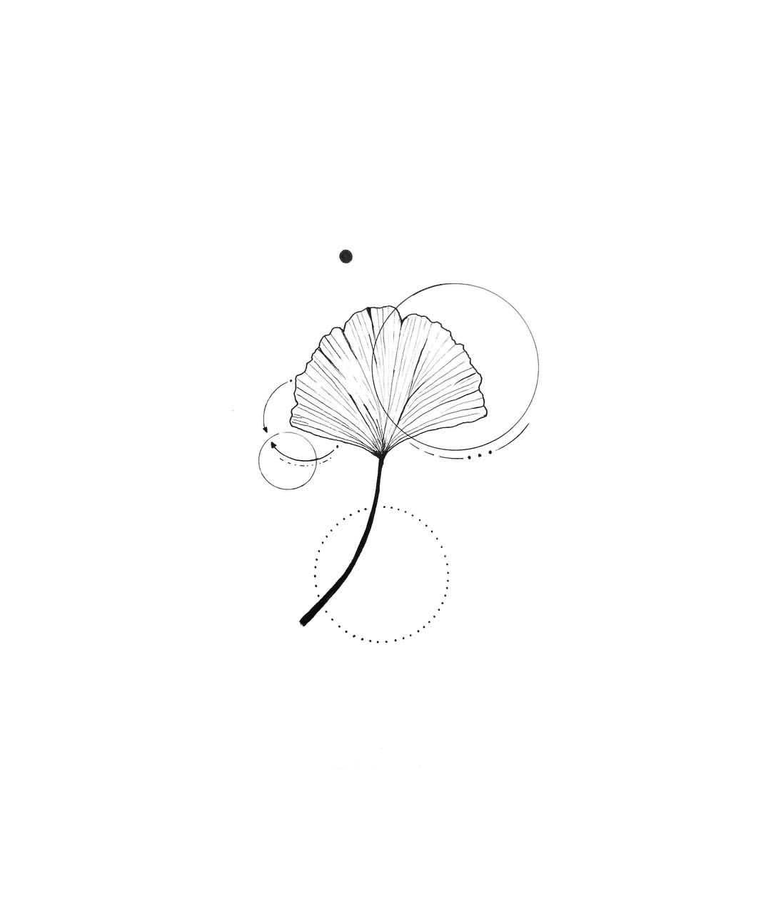 """Ma • Mo on Instagram: """"096. Ginkgo 🍃 • For the nature lovers out there. • Do you want a custom design? DM me your idea ⚫️ . . . . . #minimal #minimalism…"""""""