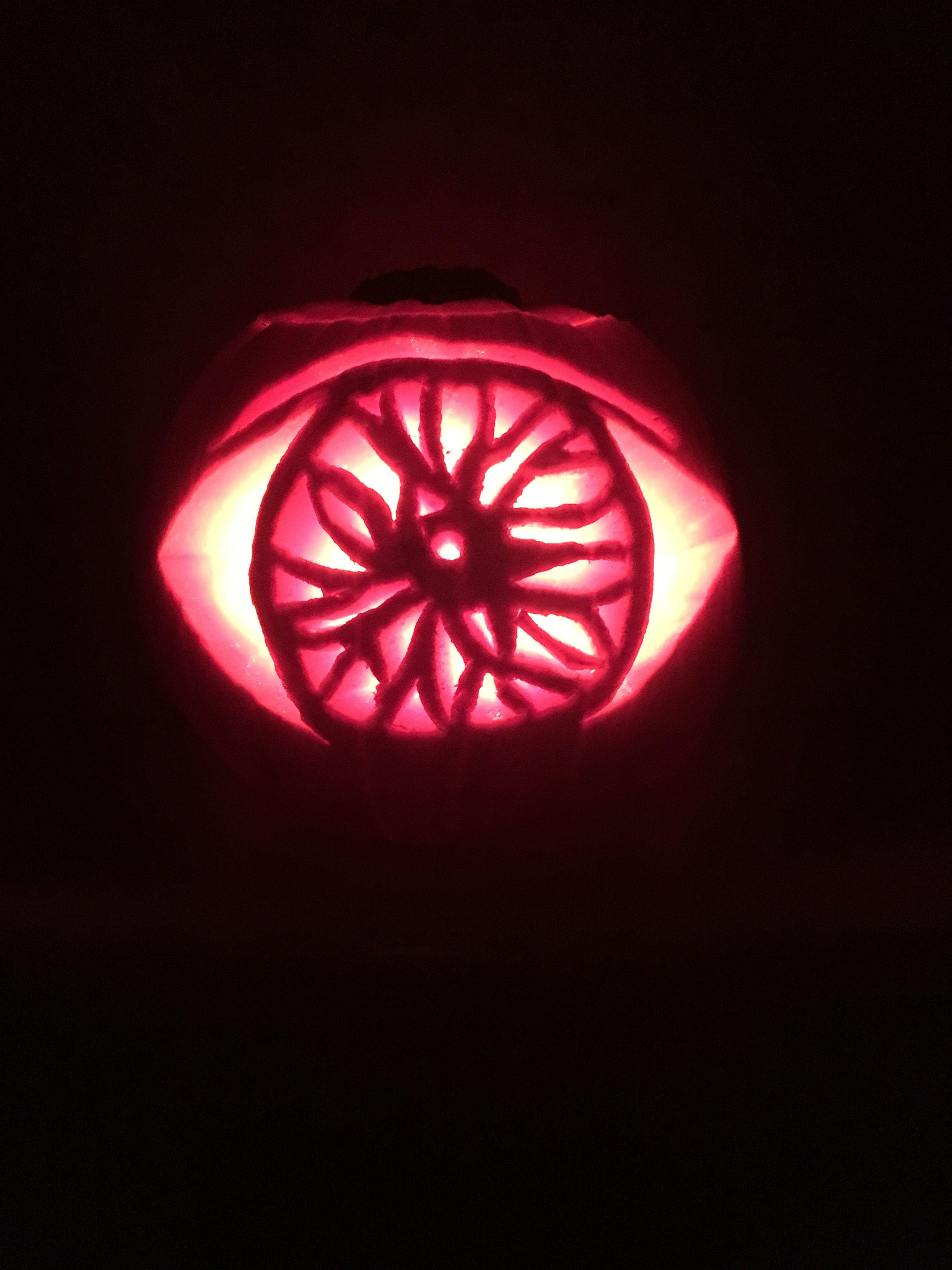 hallowe en pumpkin carving ideas evil eye jack o lantern