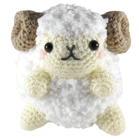 PATTERN Fluffy Ram Amigurumi Crochet Plush PDF | Llaveros