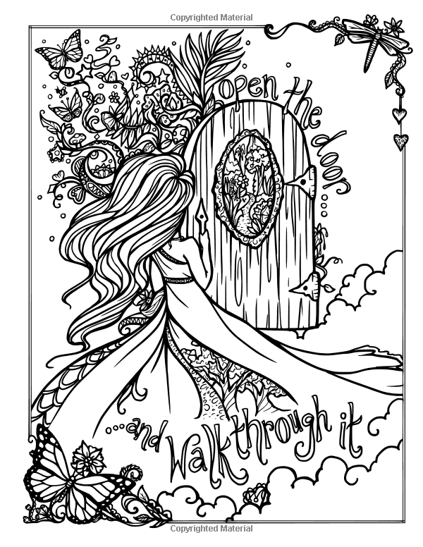 Amazon Com I Dream In Color An Inspirational Journey Coloring Book 9780692830772 Hannah Lynn Mermaid Coloring Pages Detailed Coloring Pages Coloring Pages