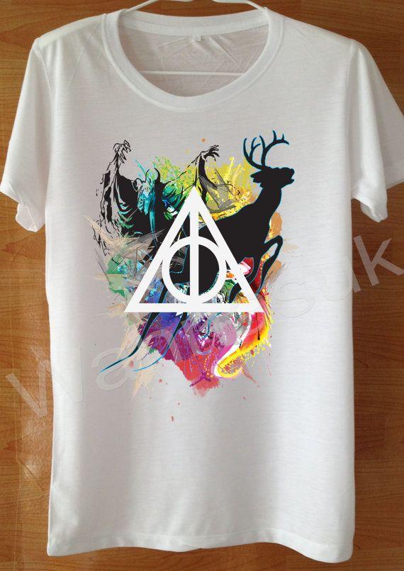 a32e9614 Hogwarts Expecto Patronum Magic Harry Potter T Shirt Custom Handmade Screen  Print Funny White harry potter Clothing women Tshirt Shirt S M L