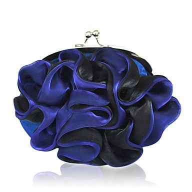 Gorgeous Silk Shell With Applique Evening Handbags/ Clutches More Colors Available - USD $ 7.20