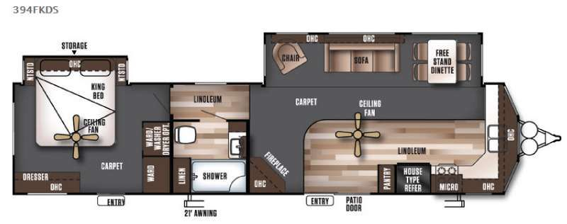 New 2017 Forest River Rv Wildwood Lodge 394fkds Destination