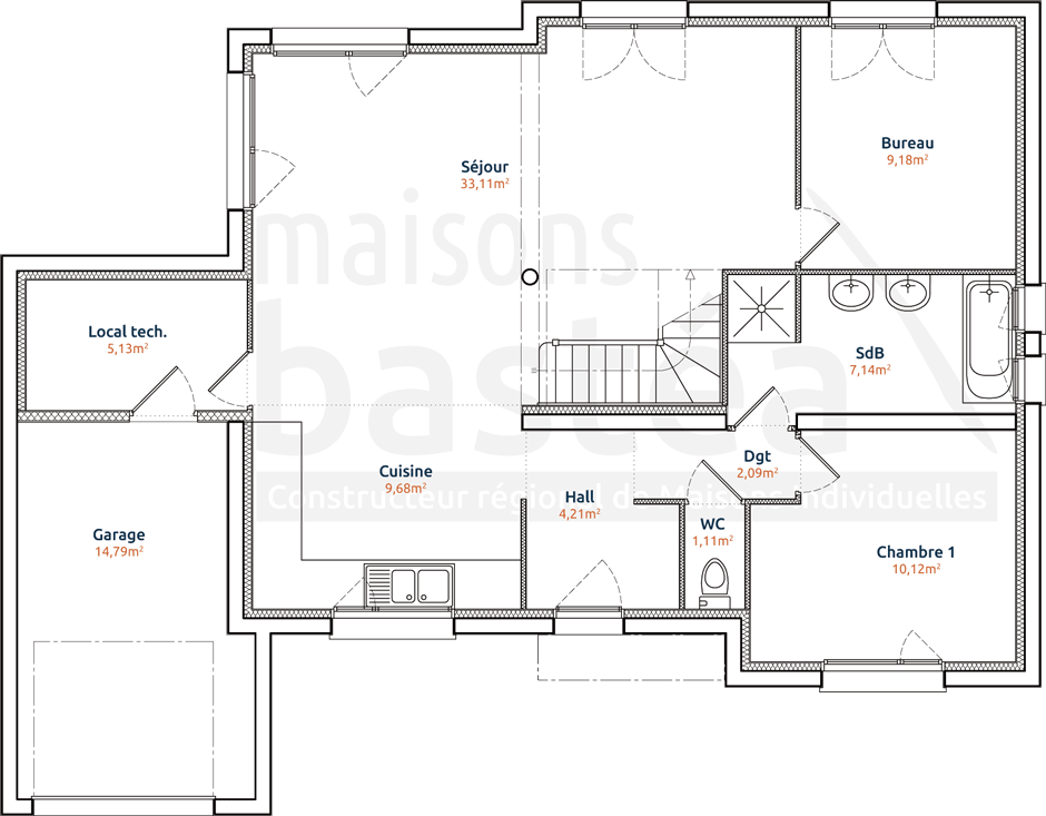 Plans maison with plans maison latest aurelia plan for Plan maison cubique