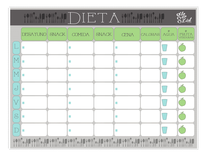 esquema dieta | Agendas | Pinterest | Esquemas, Imprimibles y ...