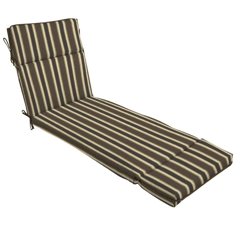 - Hampton Bay Rea Stripe Outdoor Chaise Lounge Cushion Outdoor