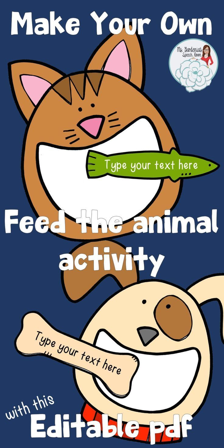 Create Your Own Feed the Animal Cat and Dog Animal