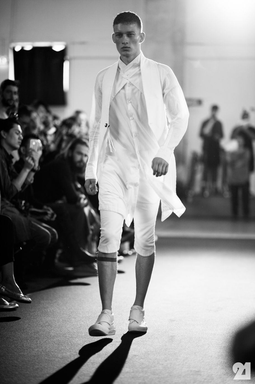 Bastian Thiery | Backstage at Boris Bidjan Saberi, Spring/Summer 2013 | Paris
