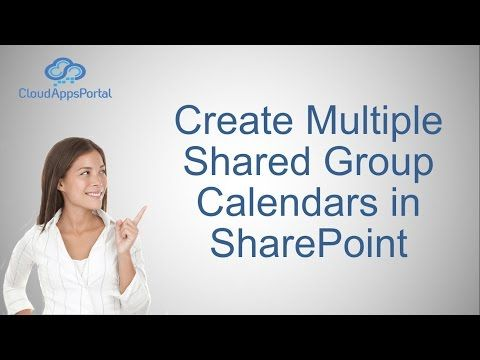Create Multiple Shared Group Calendars in SharePoint
