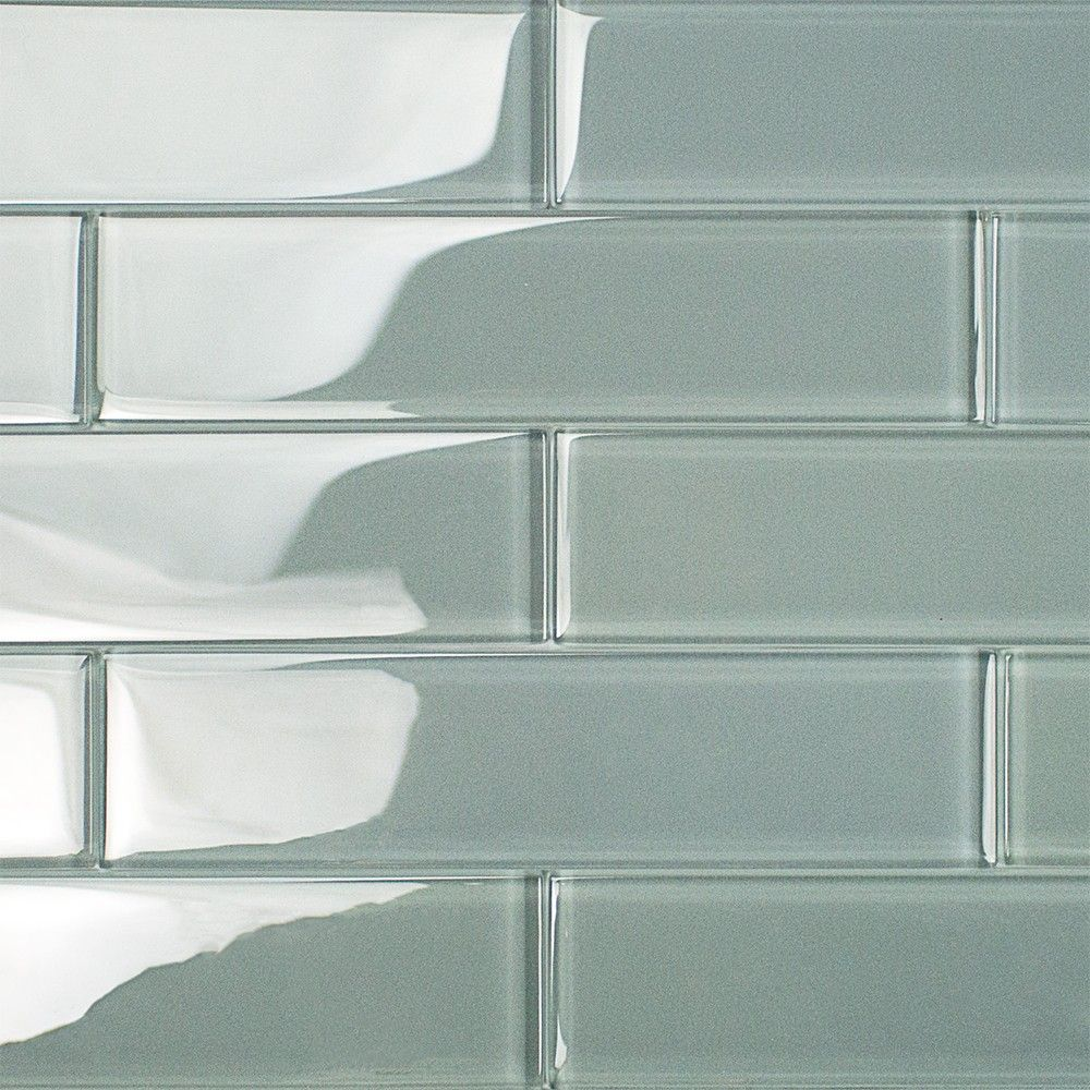Loft Aspen Aura 2x8 Polished Glass Tile | Family room remodel ...