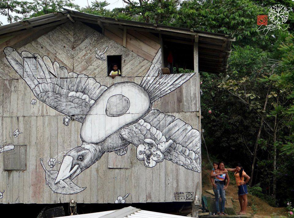 Mejores artistas callejeros: Liqen (FOTOS) | Arte Callejero