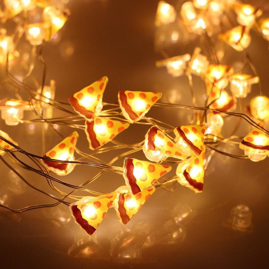 $1279 - Corded 5M 33Ft Pizza Food Shaped Led String Lights Holiday