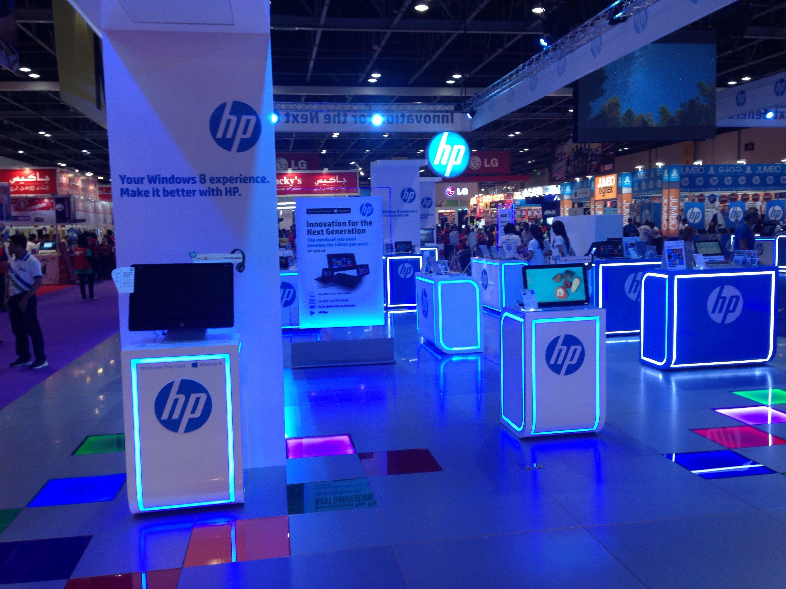 Exhibition Stand Technology : Hp stand at gitexshopper dubai uae tech gitex