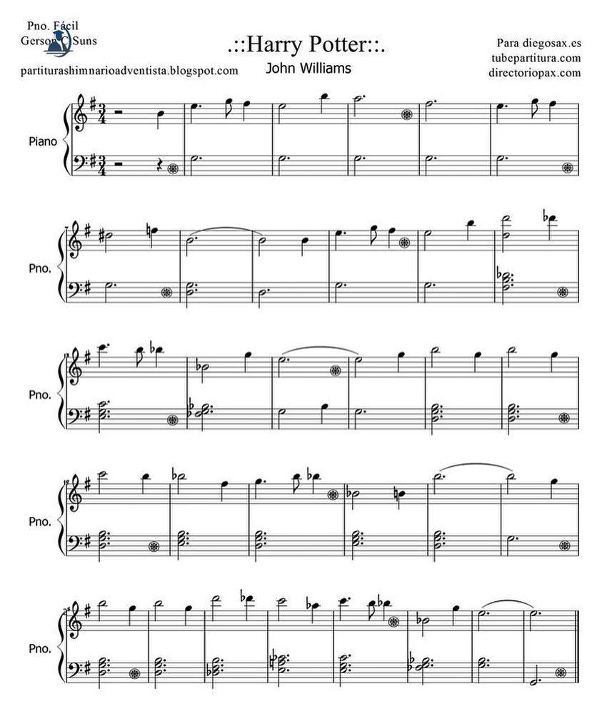 Easy Piano Sheet: Let's Play Harry Potter Some! #Piano #Sheetmusic #OST