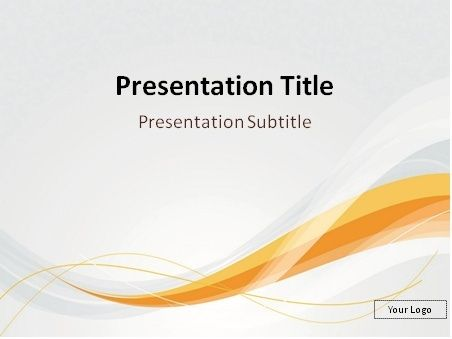 FREE Smooth orange and gray blend PowerPoint template Elegant