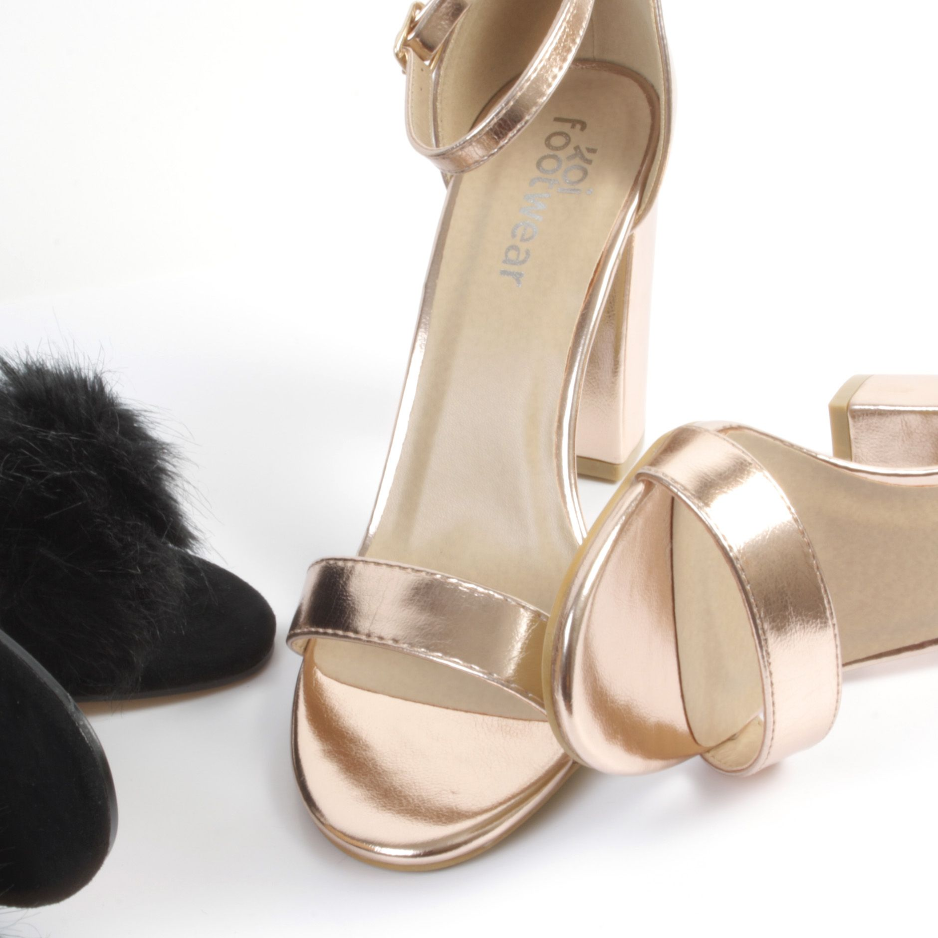 acfea5e4a3a030 Gorge gold block heels perfect for a special occasion! Only €34.99 from  Korkys.ie  korkys  queeeen  korkysshoes  occasionheels  graduation  style   fashion ...