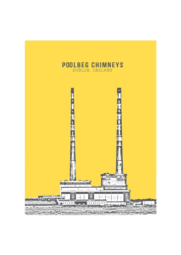 Poolbeg Chimneys Illustration By Irish Design Duo Jando Jam Art Prints Dublin Poolbegchimneys Irishdesign Jandodesign Irishart Irish Art Dublin Prints