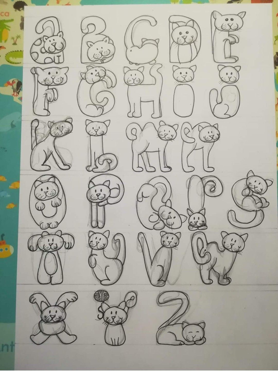 Pin By Veronica On Handlettering Hand Lettering Alphabet Lettering Alphabet Doodle Lettering