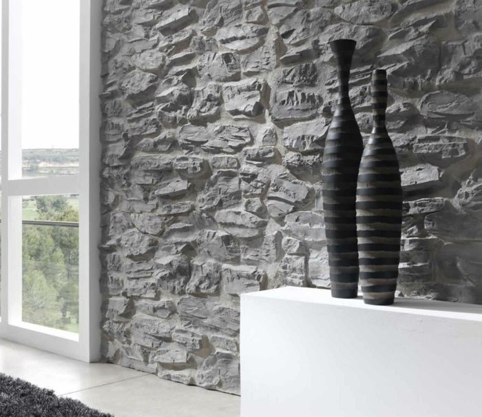 Wandpaneele Steinoptik Wandgestaltung Wandverkleidung