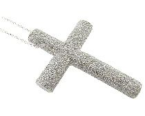 """KSMIN897 925 Sterling Silver Cross Micro set with high quality CZ's. Pendant size is 1-1/4"""" x 1-1/4"""" wt. 7.90 gr Chain not included             $46.00"""