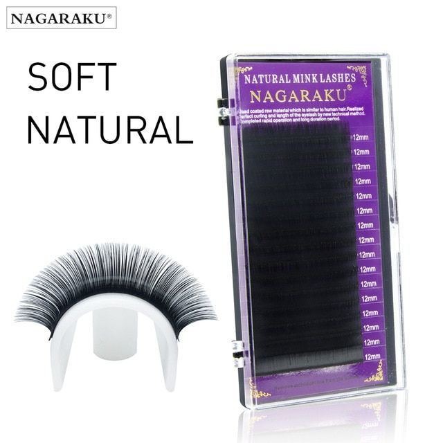 2ddb06960c5 NAGARAKU High quality eyelash extensions faux mink individual eyelashes  natural eyelashes fake false eyelashes All sizes Review