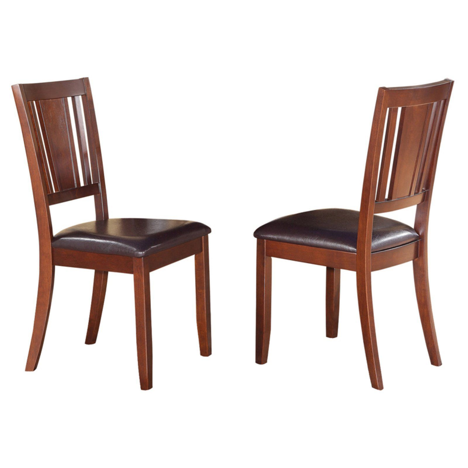 Enjoyable East West Furniture Dudley Dining Chair With Faux Leather Creativecarmelina Interior Chair Design Creativecarmelinacom