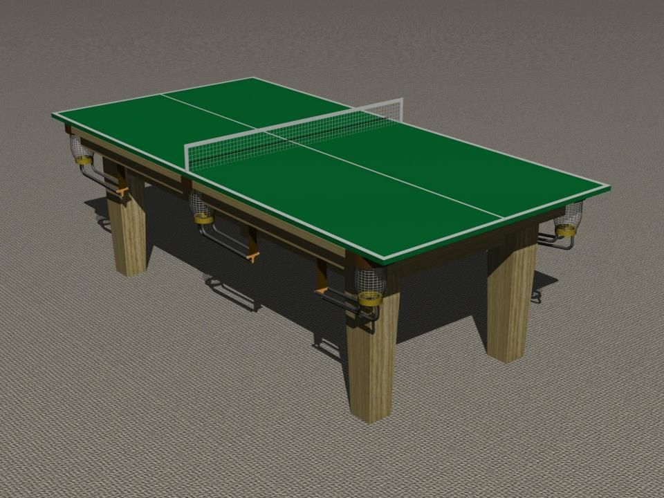 Fixed Height Pool Table With Table Tennis Tops.