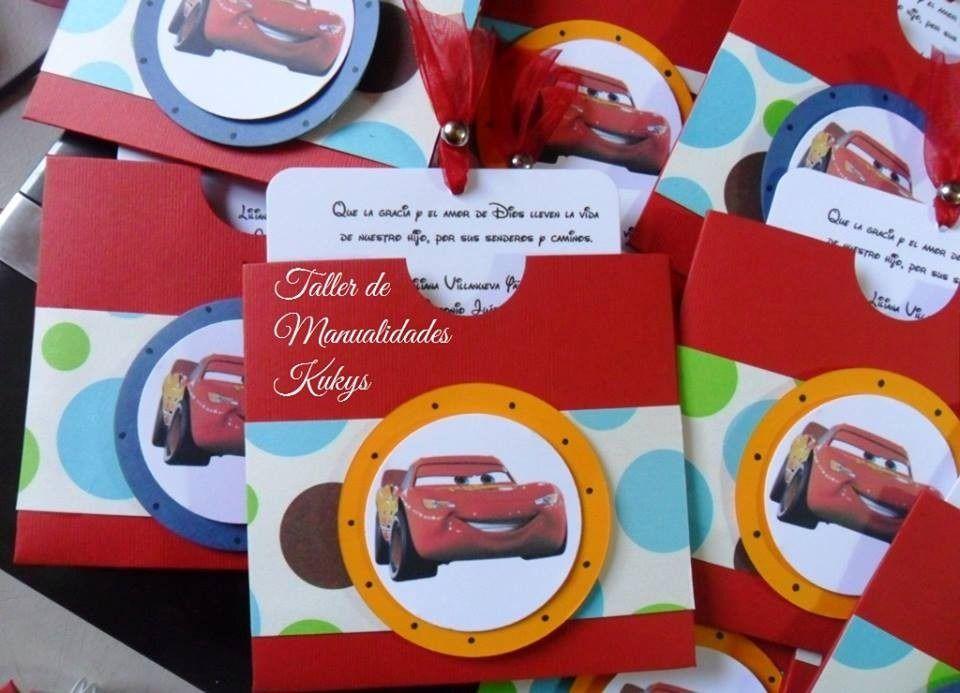 Invitaciones Cars Hechas A Mano Buscar Con Google Tarjeta De
