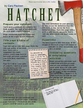 Hatchet Hyperlinked Pdf In 2021 Hatchet Novel Study Literacy Lessons Hatchet