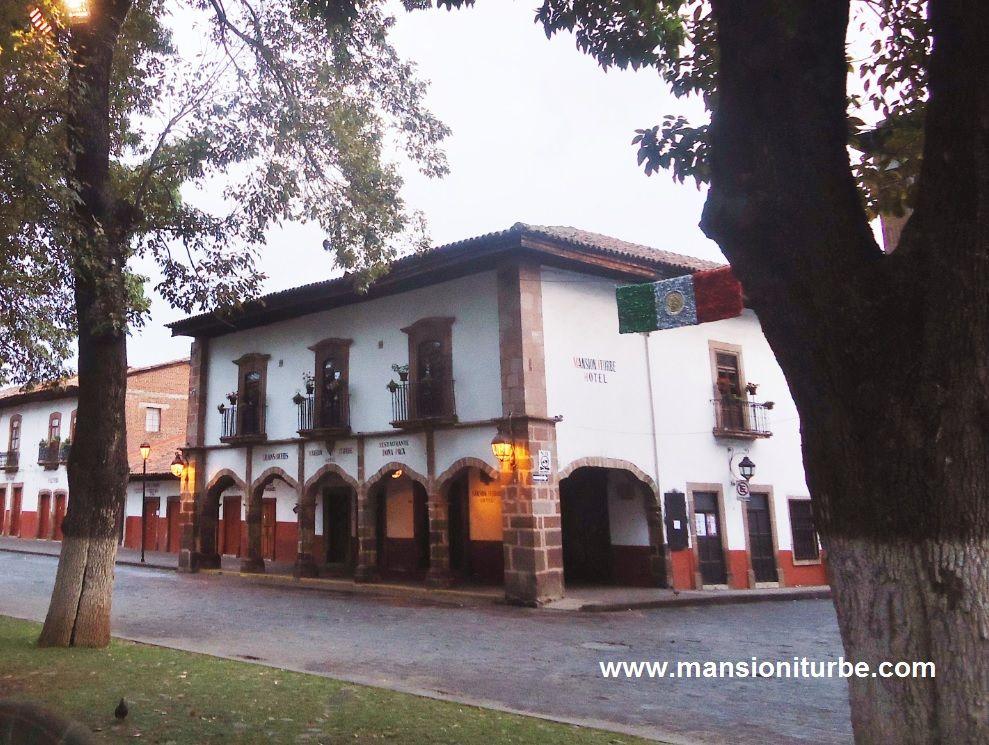 Hotel Mansión Iturbe en Pátzcuaro, Michoacán, México
