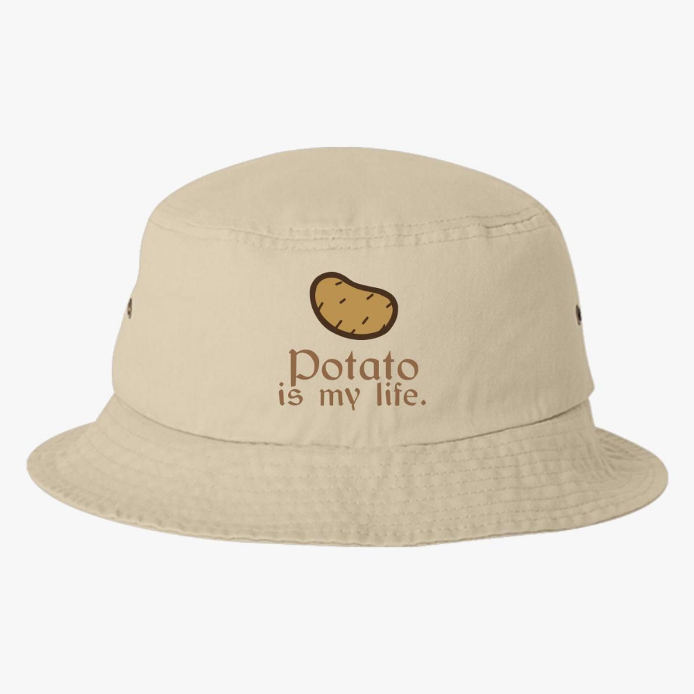 Potato Is My Life Bucket Hat Embroidered Customon Bucket Hat Brown Outfit Life Hat