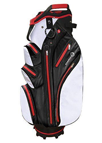 Uk Golf Gear Asbri Men S Tornado Waterproof Cart Bag White Red Na