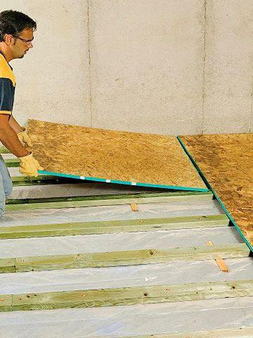 Framing Sleeper Floors Ideas For The House Pinterest Plywood - Insulated subfloor over concrete